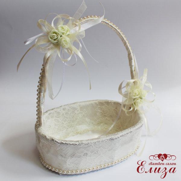 Сватбена кошничка за късмети в екрю E1